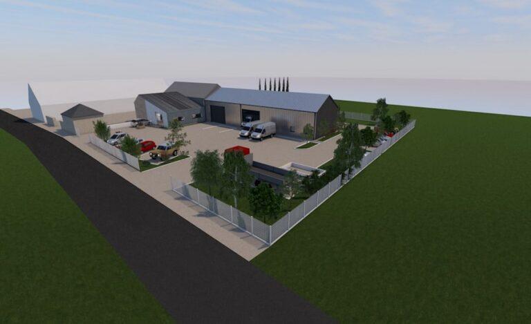 Aménagement bureaux Lubin plan aérien