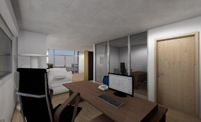 Aménagement bureaux Lubin plan derrière