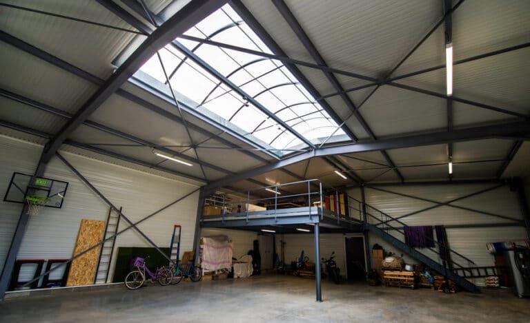 Construction neuve hangar mezzanine