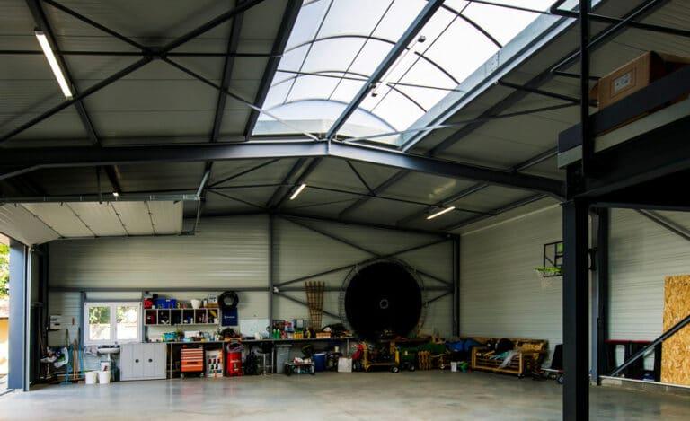 Construction neuve hangar neto vue