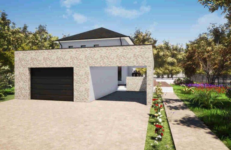 Construction neuve habitation sdev entrée