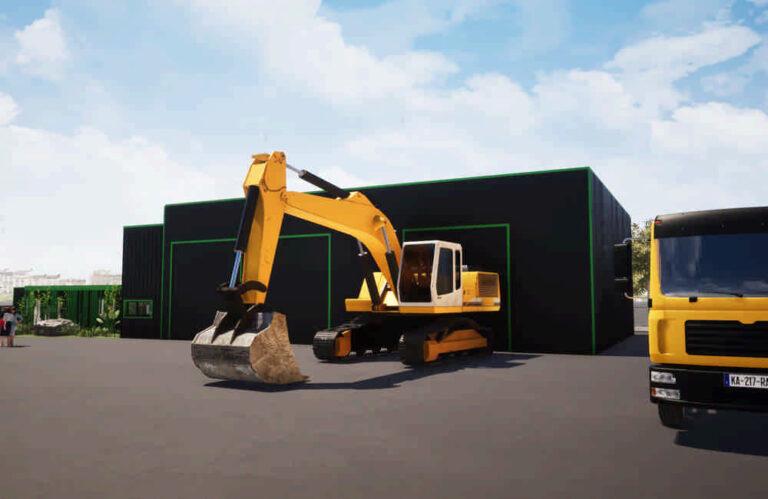 Construction tertiaire Etampes parking