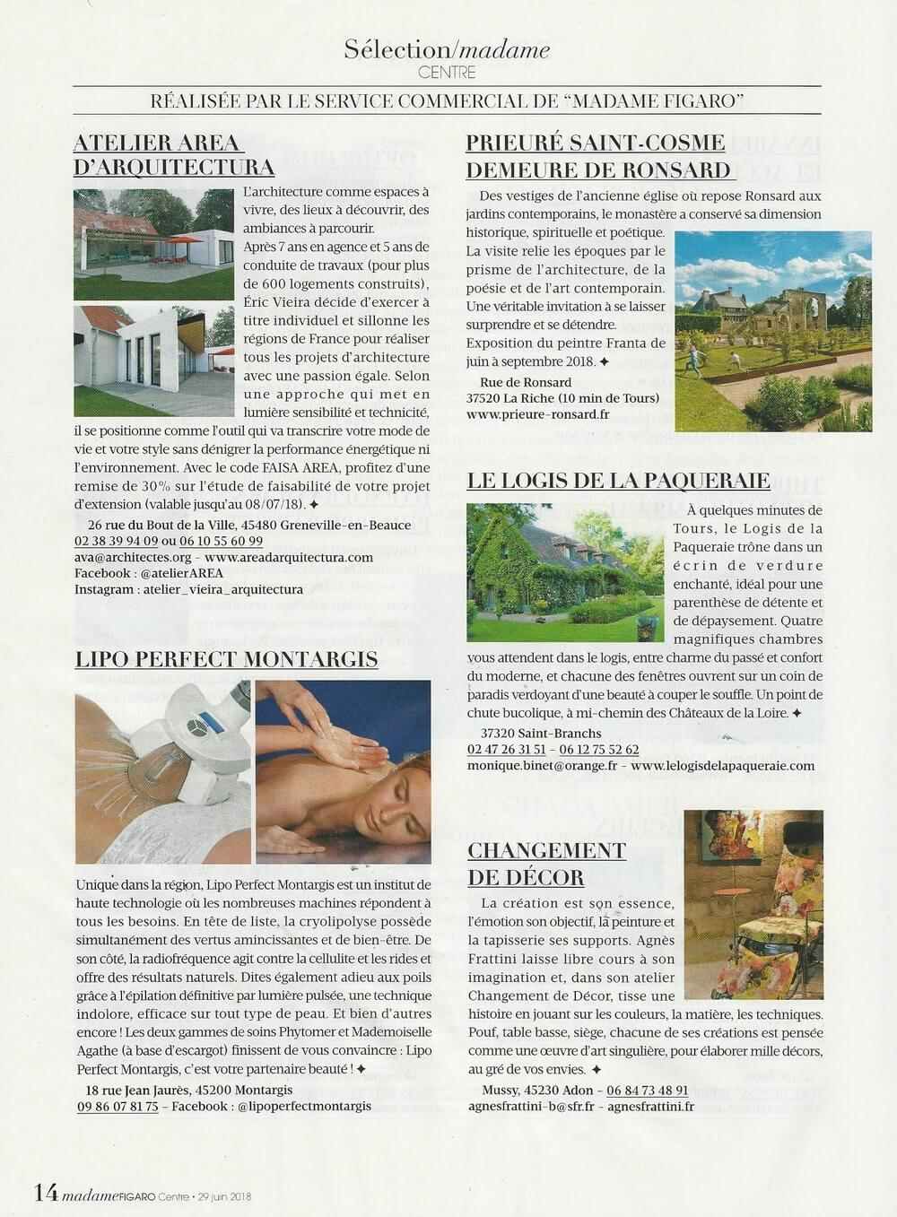 Contenu article de presse sur Atelier Area architecture