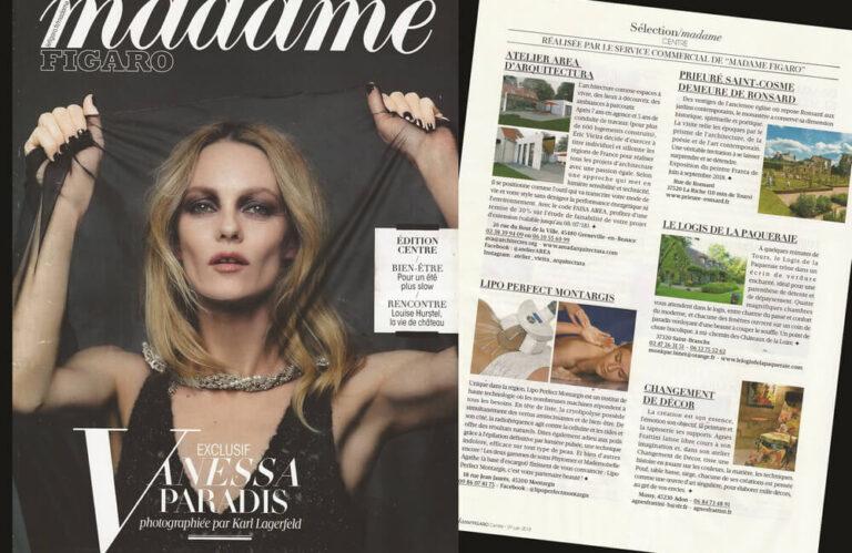 Madame Figaro article de presse Atelier AREA 2018